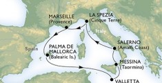 Msc Armonia itinerer