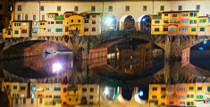 Ponte Vecchio at night, Florence.